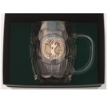 Irish Tree of Life Beer Tankard 20 oz. Gold