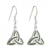 Irish Trinity Knot Connemara Earrings Sterling Silver