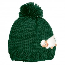 Kids Green Irish Knit Hat with Sheep