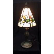 Multi Colored Irish Shamrocks Glass Accent Lamp