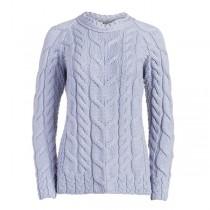 Ladies Lavender Irish Wool Sweater