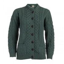 Ladies Wool Lumber Irish Cardigan