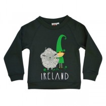 Leprechaun and Sheep Kids Irish Sweatshirt