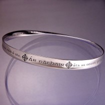 Lord's Prayer In Gaelic Sterling Silver Bracelet