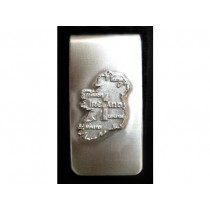 Map of Ireland Irish Money Clip