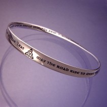 May The Road Rise To Meet You Sterling Silver Bracelet