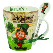 McMurfy Irish Coffee Mug and Spoon