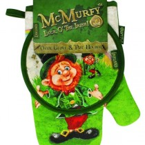 McMurfy Leprechaun Irish Oven Glove and Pot Holder