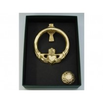 Claddagh Door Knocker Celtic Cross back
