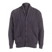 Men's Gray Irish Cardigan