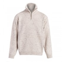 Men's Zip Neck Irish Wool Sweater