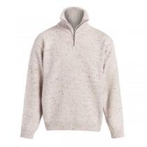 Men's Zip Neck Irish Wool Sweater