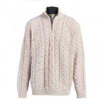 Men's Zipper Collar Irish Sweater