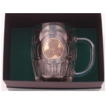Newgrange Spirals Irish Beer Tankard Gold