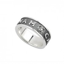 Oxidized Sterling Silver Mens Irish MO ANAM CARA Ring