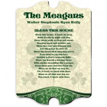 Personalized Irish House Blessing Plaque