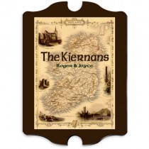 Personalized Irish Map Family Sign