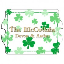 Personalized Irish Shamrocks Family Sign