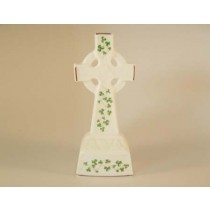 Standing Celtic Cross Trellis Shamrock Royal Tara Fine Bone China