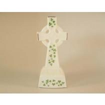 Standing Celtic Cross Trellis Shamrock Royal Tara Fine Bone China
