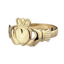 14k Gold Mini Claddagh Ring