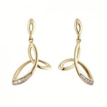 14K Gold Fusion Diamond Trinity Knot Earrings