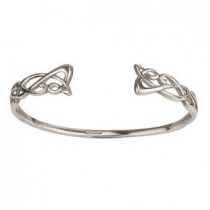 Irish Celtic Open Bangle Bracelet Failte