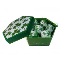 Shamrock & Hearts Christmas Ornaments Gift Boxed