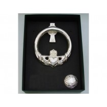 Silver-plate Irish Claddagh Door Knocker Medium