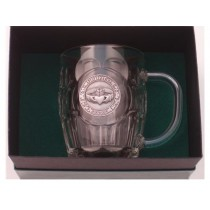 Irish Claddagh Beer Tankard 20 oz. Silver Plated