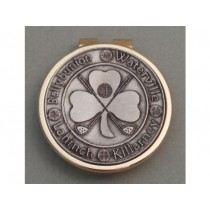Silver Irish Golf Money Clip