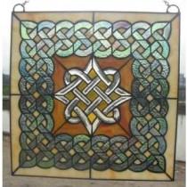 Stained Glass Irish Celtic Beveled WIndow Ornament