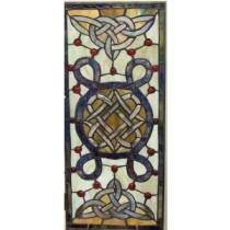 Stained Glass Irish Celtic Window Ornament