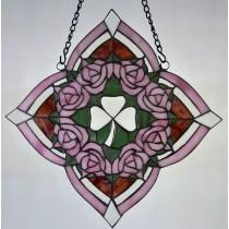 Stained Glass Irish Rose Window Ornament