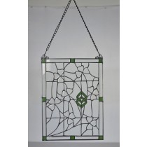 Stained Glass Irish Shamrock Vines Window Ornament