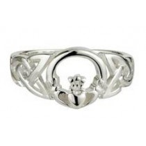 Sterling Silver Irish Celtic Claddagh Ring