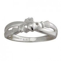 Sterling Silver Intertwined Irish Claddagh Ring