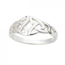 Sterling Silver Irish Ring Celtic Front