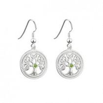 Sterling Silver Irish Tree of Life Earrings Drop