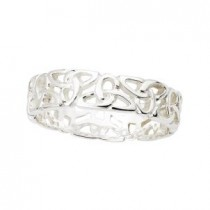 Sterling Silver Ladies Irish Trinity Ring
