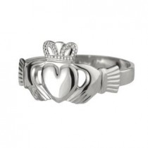Sterling Silver Mens Heavy  Irish Claddagh Ring