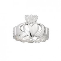Sterling Silver Mens Irish Celtic Knot Claddagh Ring
