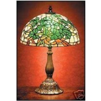 Multi Colored Irish Shamrocks Tiffany Lamp