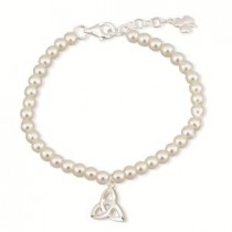 Childrens Irish Trinity Knot Pearl Bracelet