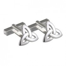 Irish Trinity Knot Sterling Silver Mens Cufflinks