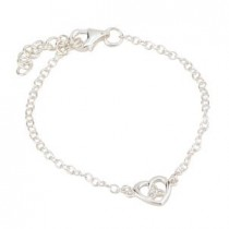 children's adjustable trinity knot heart bracelet