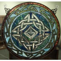 Stained Glass Irish Celtic Window Decor Multi Color