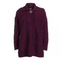 Women's Single Button Long Irish Cardigan Sweater