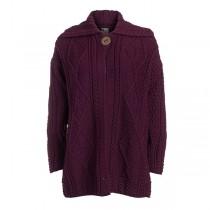 Women's Single Button Long Irish Cardigan Sweater
