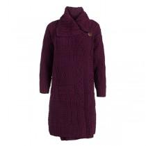 Women's Single Button Long Irish Cardigan Sweater Womens Single Button Long Irish Cardigan Sweater Coat